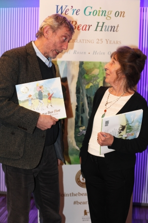Michael Rosen and Helen Oxenbury at the Anniversary Party
